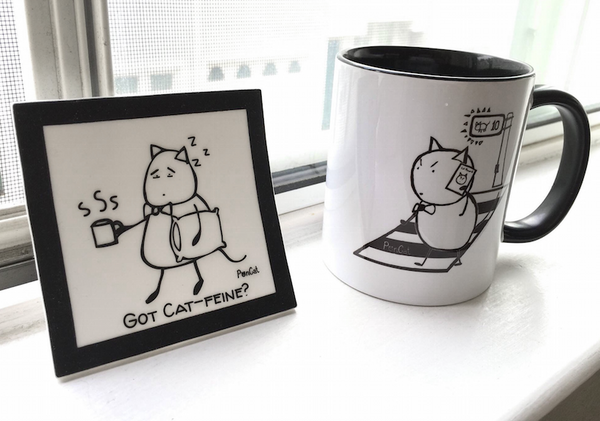 Coffee Mug: PonCat's New Phone