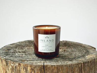 Inland Candle - 004  Leather + Clove