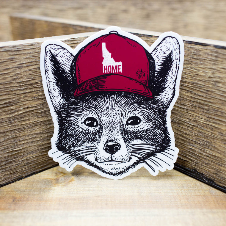 Idaho Home Fox Sticker