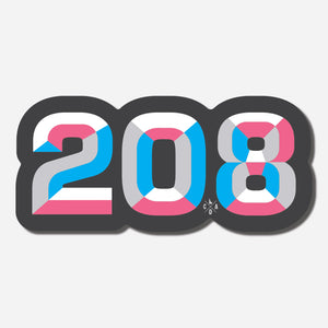 208 Blue & Pink Sticker