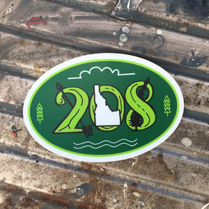 208 Oval Sticker