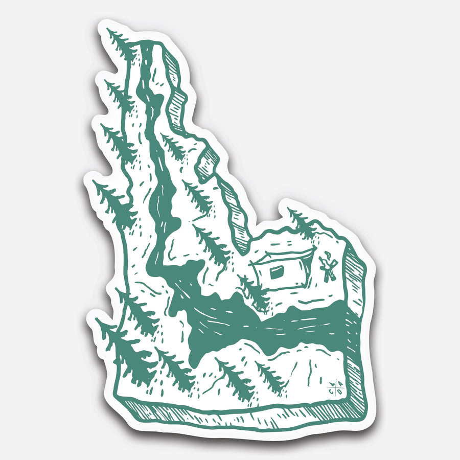 3D Idaho River Sticker
