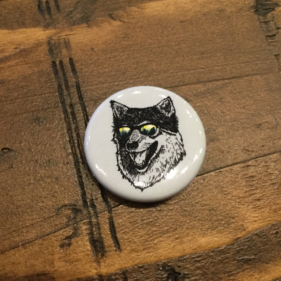 Wilderness Wolf Button