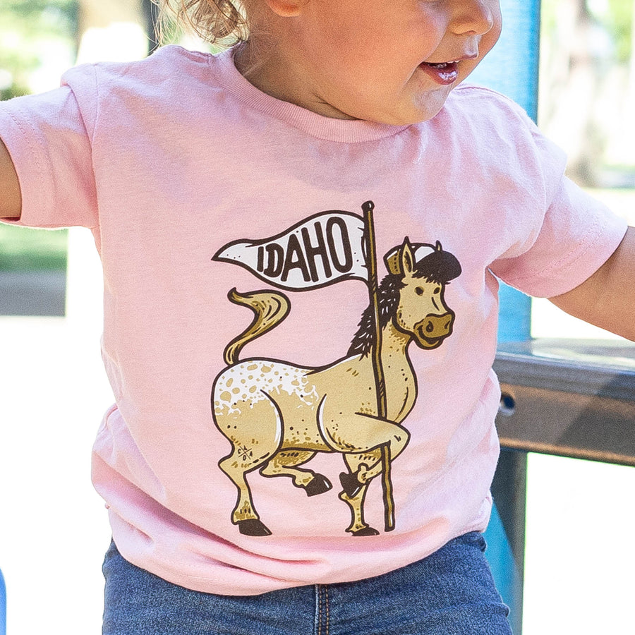 Appaloosa Horse Light Pink Girls Toddler Tee