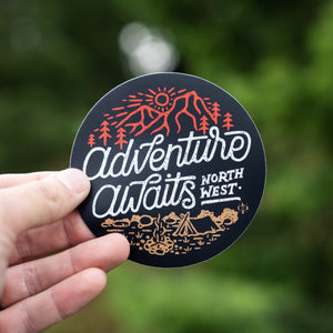 Adventure Awaits Northwest Sticker
