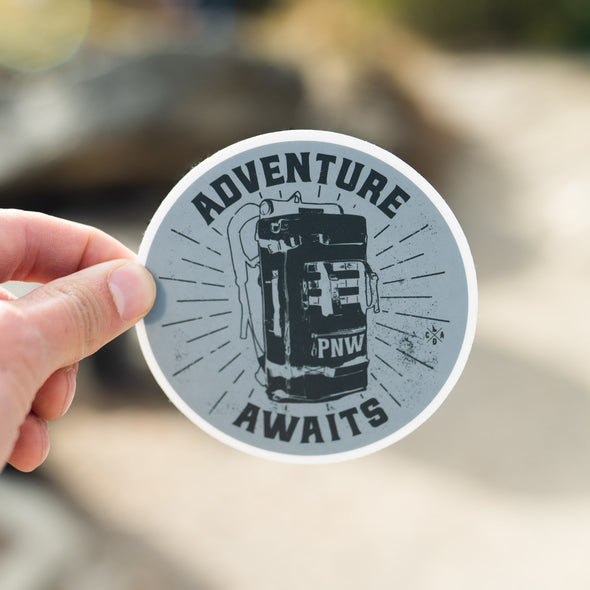 Adventure Awaits Backpack Sticker