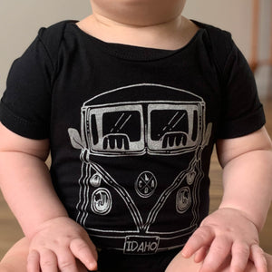 Black Bus Infant Onesie