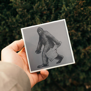 Idaho Bigfoot Ceramic Coaster
