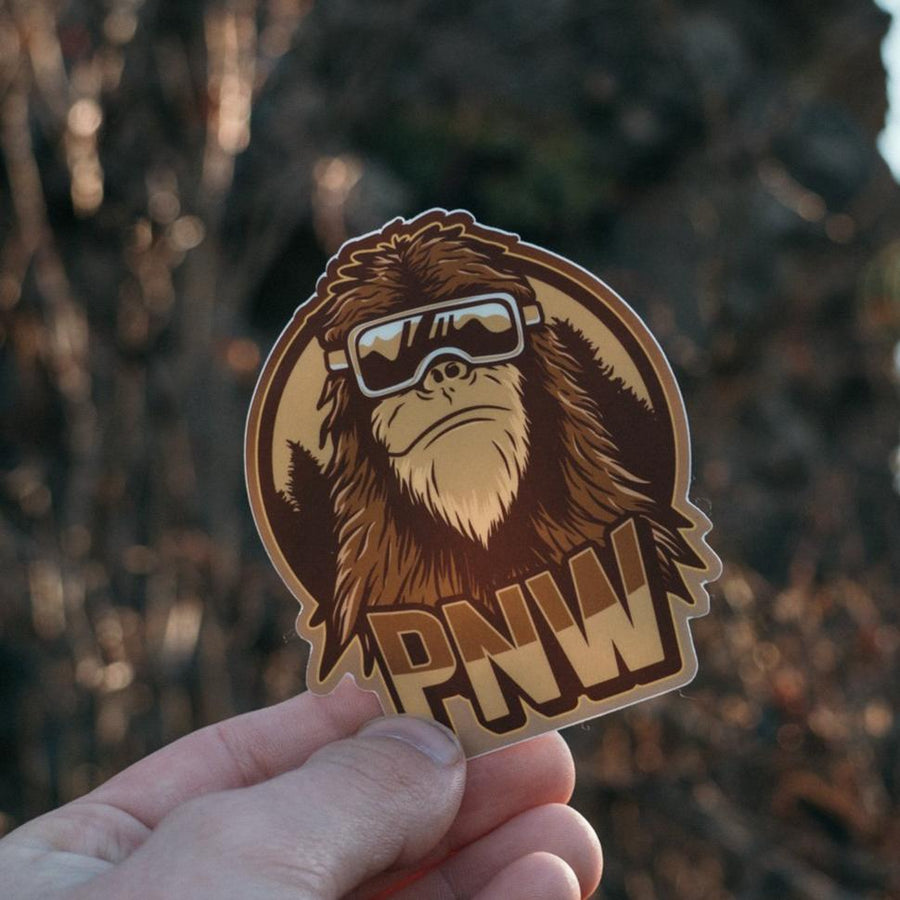 Bigfoot Snowboarder Sticker