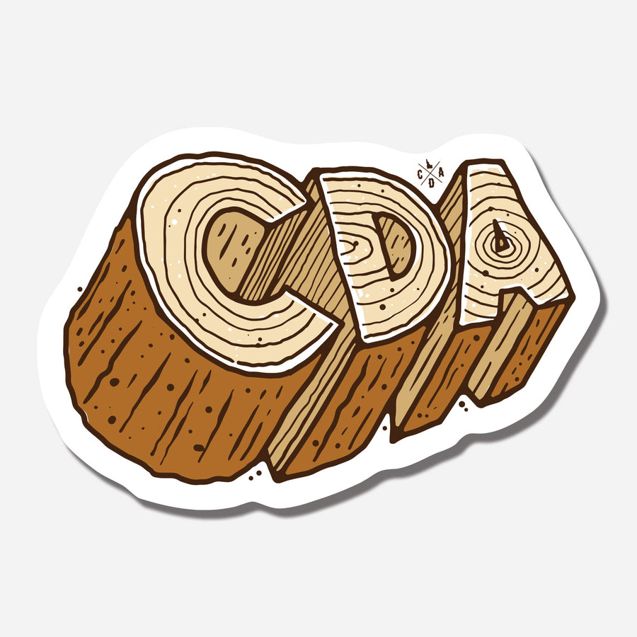 CDA Chopped Wood Sticker