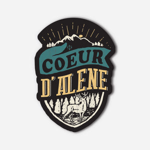 Coeur d'Alene Forest Sticker