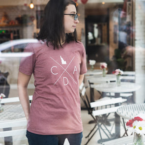 Mauve Heather Logo Tee