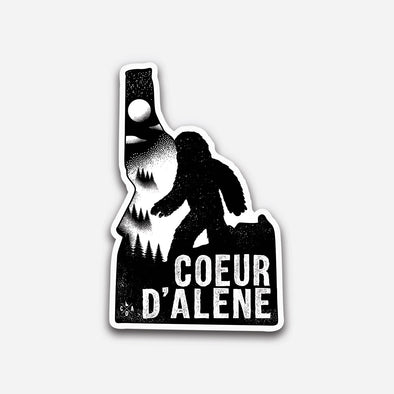 Coeur d'Alene Night Bigfoot Sticker