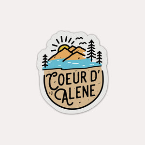 Coeur d'Alene In The Sand Sticker