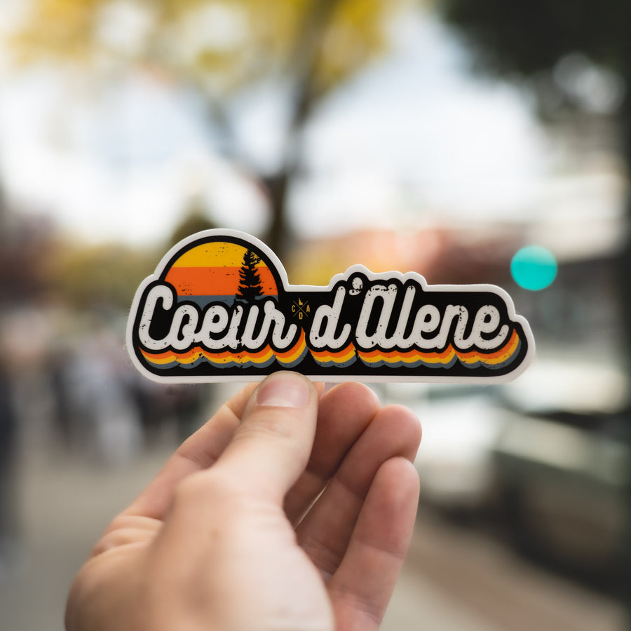 CDA Summer Sunset Sticker - Black