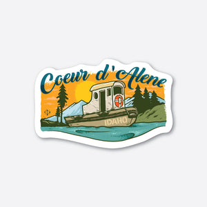 Coeur d'Alene Tugboat Sticker
