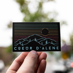 Coeur d'Alene Views Sticker