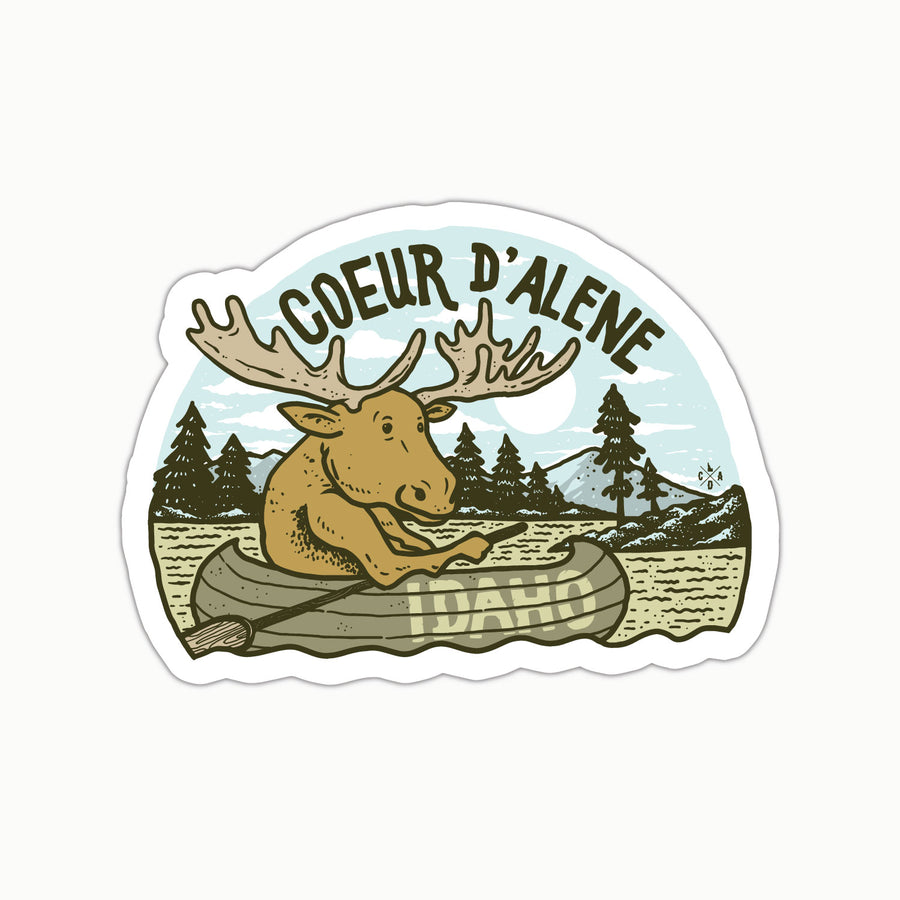 CDA Moose In A Canoe Sticker