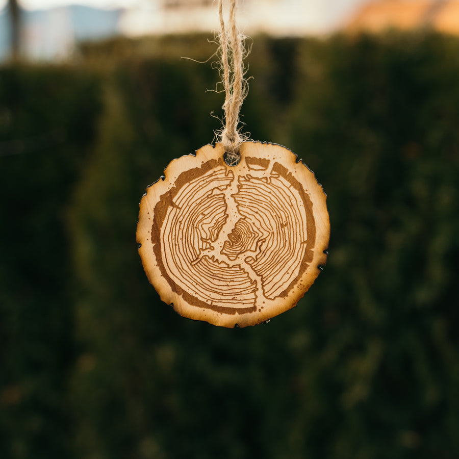 CDA Lake Tree Ring Ornament