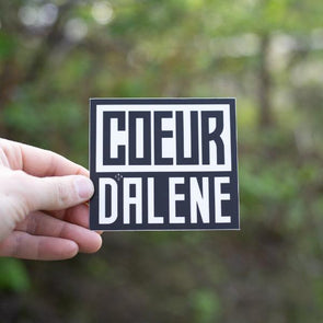 The Coeur d'Alene Square Sticker