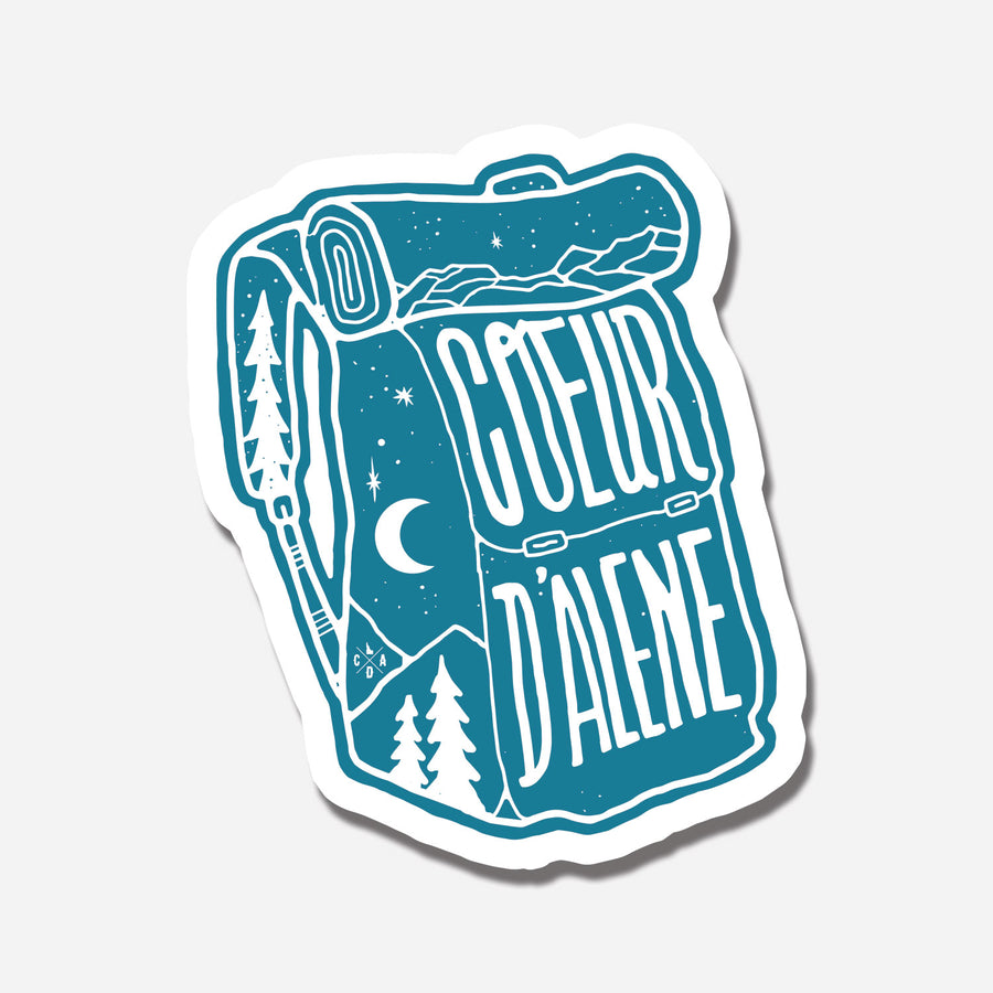 Coeur d'Alene Backpack Sticker