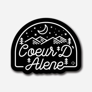 Coeur d'Alene Night Patch Sticker