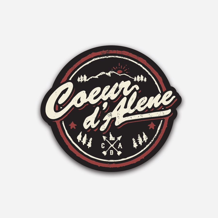 Coeur d'Alene Wilderness Survival Sticker