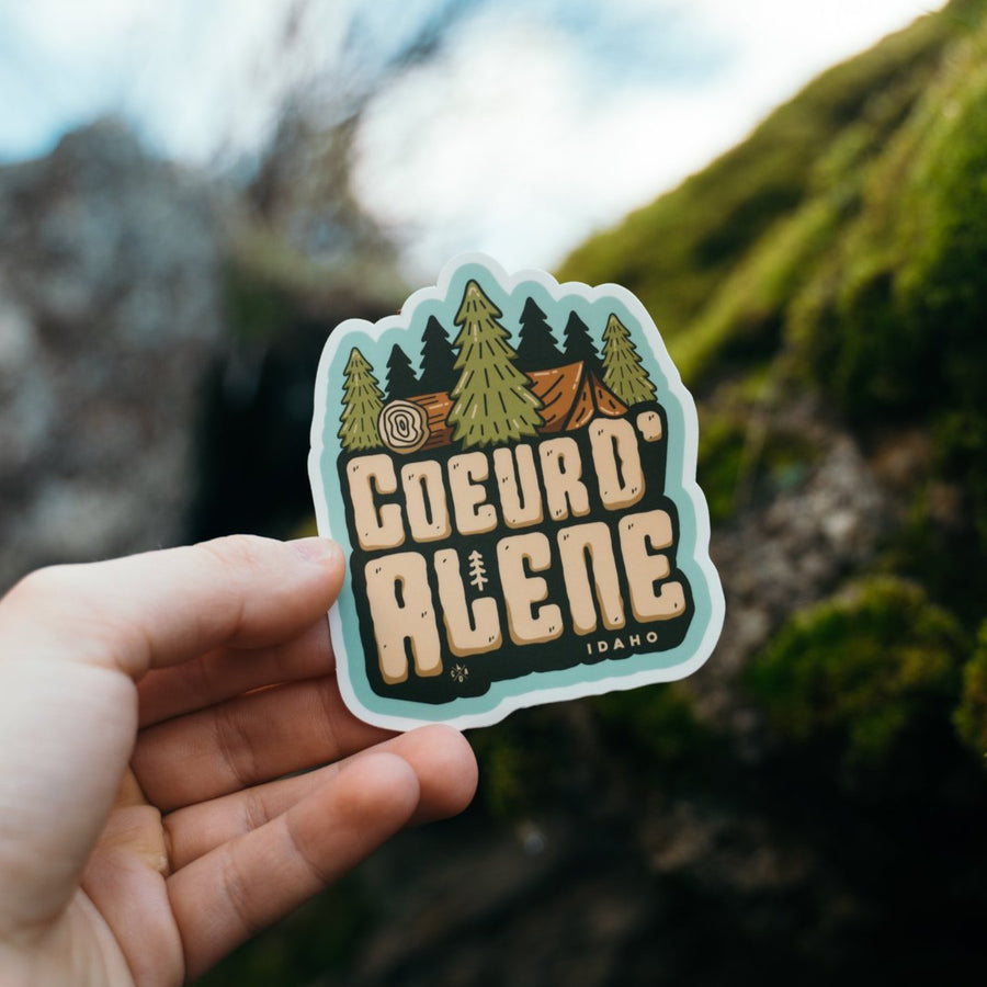 Coeur d'Alene In The Woods Sticker