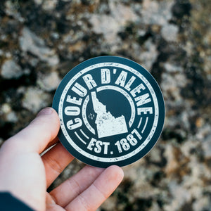 Coeur d'Alene Retro Records Sticker