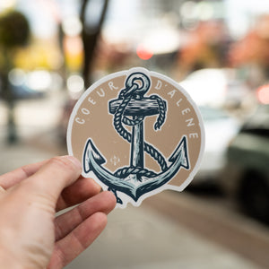 Coeur d'Alene Classic Anchor Sticker