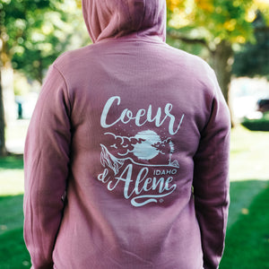 Mauve CDA Night Tubbs Zip Up Hoodie