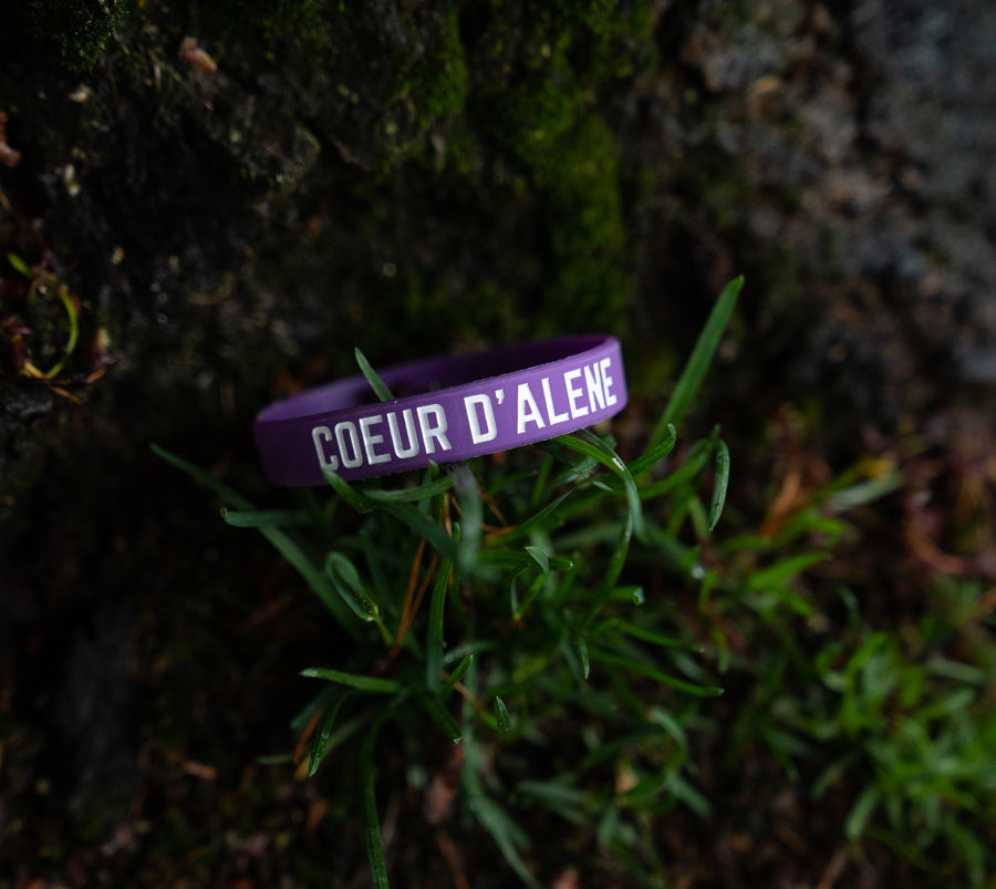 CDA Idaho Rubber Bracelet - Purple