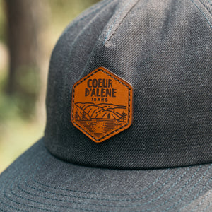 Dark Heather CDA By The Lake Leather Patch Street Hat