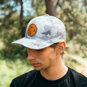 Urban Camo Leather Patch Hat