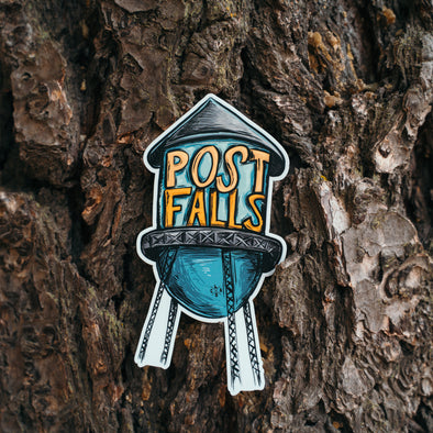 Post Falls Water Tower Sticker