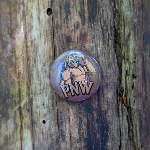Happy PNW Bigfoot Magnet