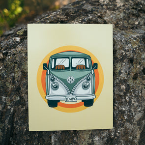 Retro Idaho Bus Metal Print