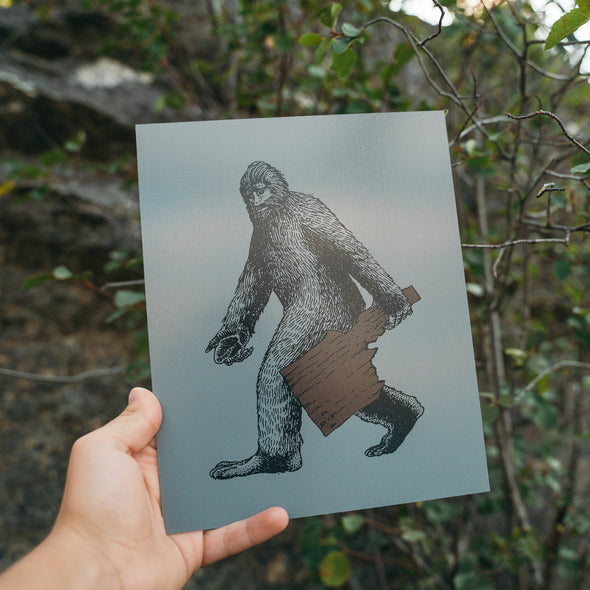 Idaho Bigfoot Metal Print