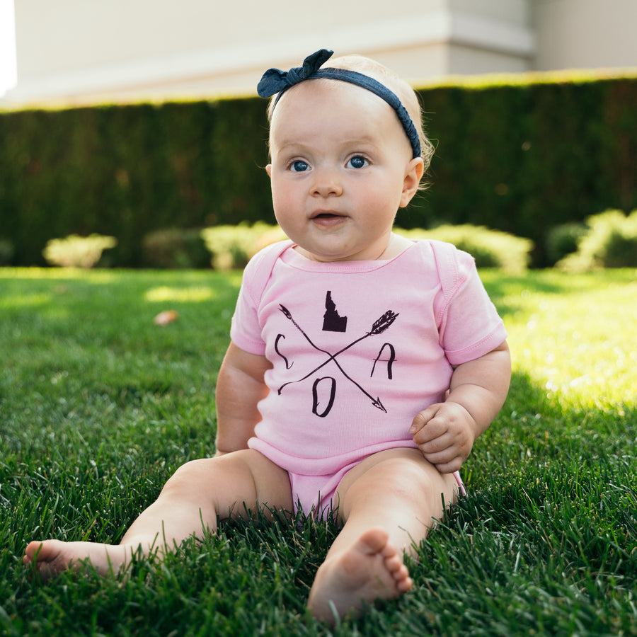 Pink Arrow Logo Onesie
