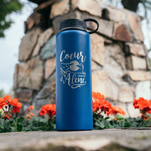 Navy Night Tubbs Hill 40oz H2GO Flask