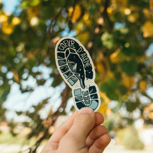 Coeur d'Alene Shoe Print Sticker