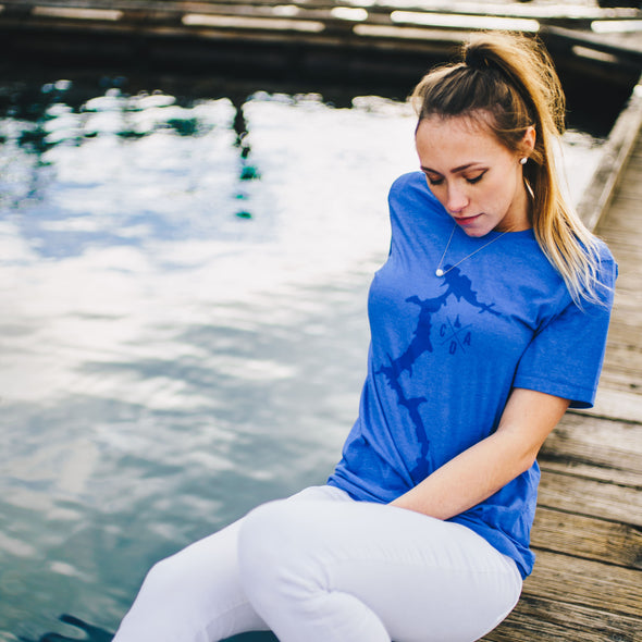 Dark Blue CDA Lake Tee