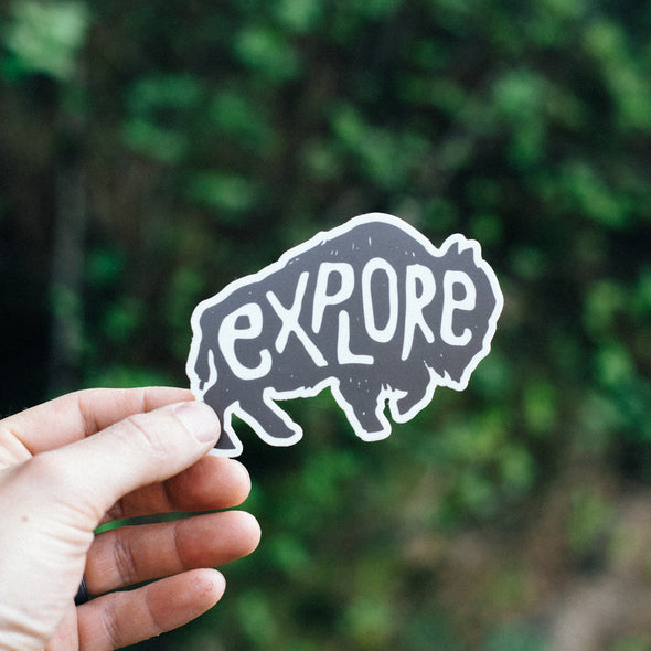 Buffalo Explore Sticker