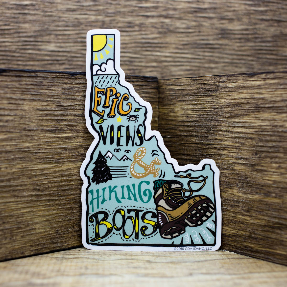 Epic Views & Hiking Boots Stickers