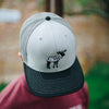 Gray Charcoal Gangster Moose Hat