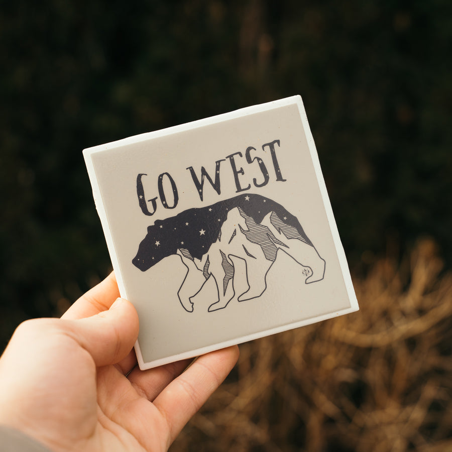 Go West Ceramic Coaster