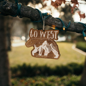 Go West Ornament