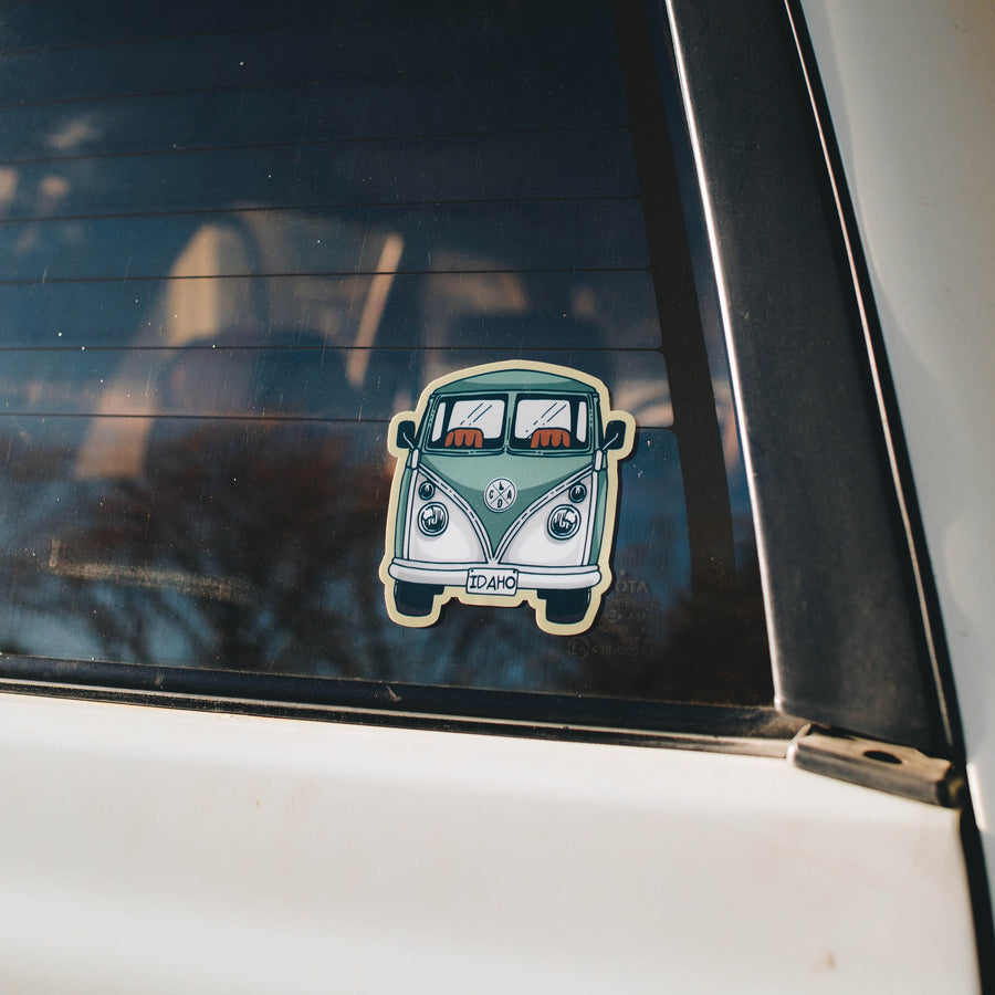 Green VW Bus Sticker