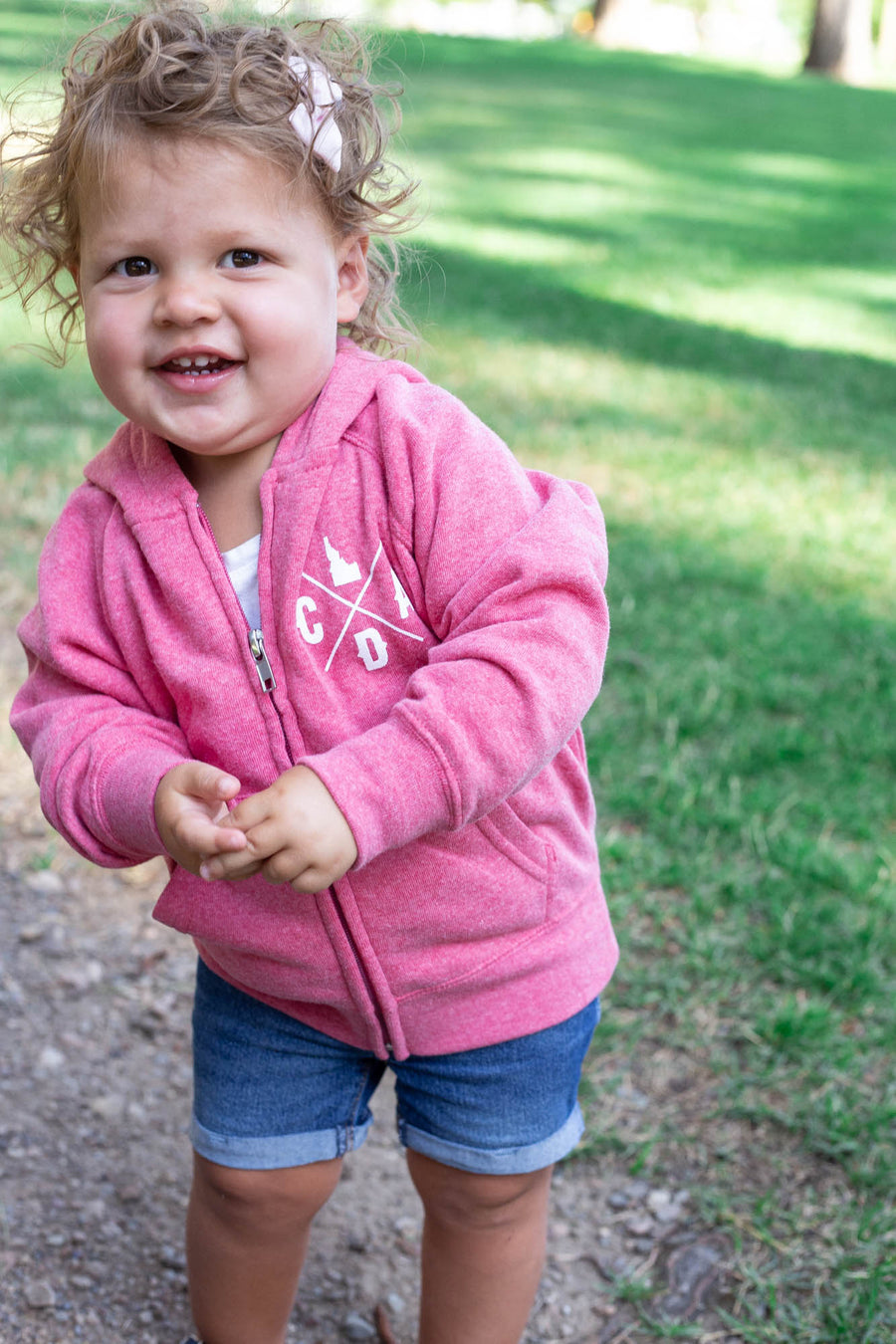 Toddler Pink Happy Hoodie