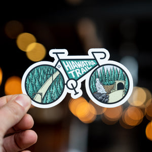 Hiawatha Bike Silhouette Sticker